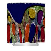 1404 Abstract Thought Shower Curtain