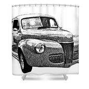 1941 Ford Coupe Shower Curtain
