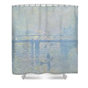 Charing Cross Bridge Shower Curtain