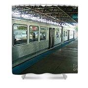 Cta's Retired 2200-series Railcar Shower Curtain