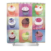 15 Cupcakes Shower Curtain