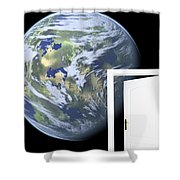 Door To New World Shower Curtain