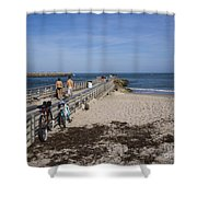 Fishing At Sebastian Inlet In Florida Shower Curtain