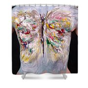 15. Judy Robkin, Artist, 2015 Shower Curtain