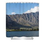 Lake With Mountain Range Shower Curtain