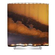 Nebraska Roll Cloud A Cometh Shower Curtain