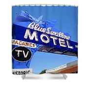 Route 66 - Blue Swallow Motel Shower Curtain