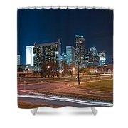 Skyline Of Uptown Charlotte North Carolina At Night. Shower Curtain