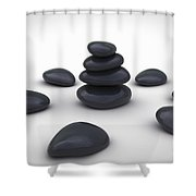 Stone Therapy Shower Curtain