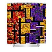 1517 Abstract Thought Shower Curtain