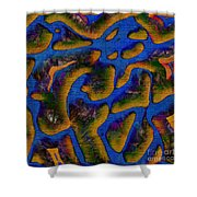 1541 Abstract Thought Shower Curtain