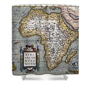 1584 Map Of Mysterious Africa Shower Curtain