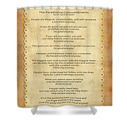 159- The Paradoxical Commandments Shower Curtain