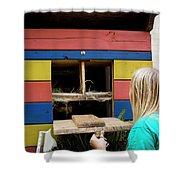 A Backyard Chicken Coop In Austin Shower Curtain