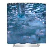 Australia - Deep Blue White Water Colour Shower Curtain