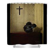 16. Black Silkie Shower Curtain