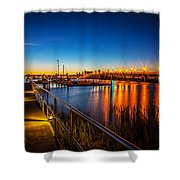 Bridge Of Lions St Augustine Florida Painted  Shower Curtain