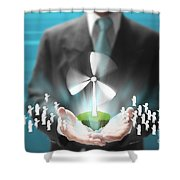Business Abstract Shower Curtain
