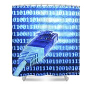 Digital Connection Shower Curtain