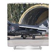 Hellenic Air Force Ta-7 Corsair II Shower Curtain