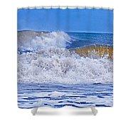 Hurricane Storm Waves Shower Curtain