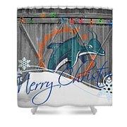 Miami Dolphins Shower Curtain by Joe Hamilton