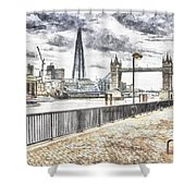 River Thames View Shower Curtain