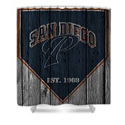 San Diego Padres Shower Curtain