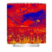 Space Landscape Shower Curtain