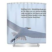 Soaring Heron Shower Curtain