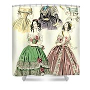 Women's Fashion, 1842 Shower Curtain
