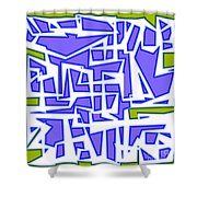 1623 Abstract Thought Shower Curtain