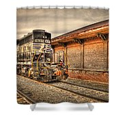 Locomotive 1637 Norfork Southern Shower Curtain