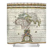 1650 Jansson Map Of The Ancient World Shower Curtain