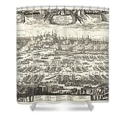 1697 Pufendorf View Of Krakow Cracow Poland Shower Curtain