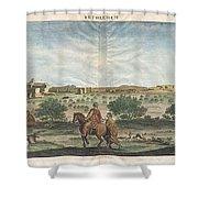 1698 De Bruijin View Of Bethlehem Palestine Israel Holy Land Shower Curtain