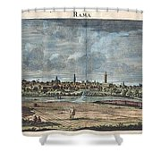1698 De Bruijin View Of Rama Israel Palestine Holy Land Shower Curtain