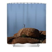 Devils Marbles  Karlu Karlu Shower Curtain