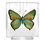 17 Green Hairstreak Butterfly Shower Curtain
