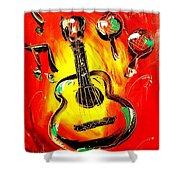 Guitar Shower Curtain by Mark Kazav