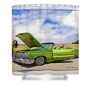 Lowrider Shower Curtain