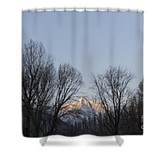 Snow-capped Mountain Shower Curtain