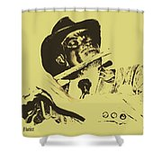 The Jazz Flutist Shower Curtain