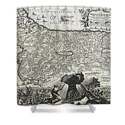 1702 Visscher Stoopendaal Map Of Israel Shower Curtain
