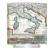1706 De La Feuille Map Of Italy Shower Curtain