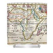 1710 De La Feuille Map Of Africa Shower Curtain