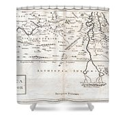 1730 Toms Map Of Central Africa Shower Curtain