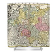 1740 Homann Map Of The Holy Roman Empire Shower Curtain