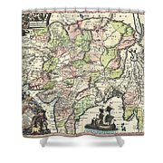 1740 Seutter Map Of India Pakistan Tibet And Afghanistan Shower Curtain