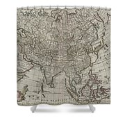 1745 Asia Map Shower Curtain